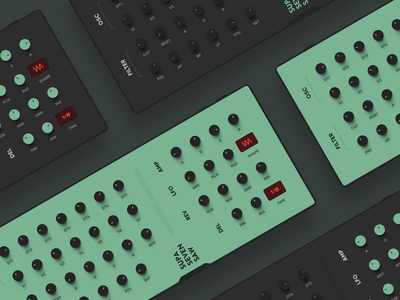 Supa Seven Saw VST redesign concept synthesizer synth dark green knobs daw music plugin interface vst