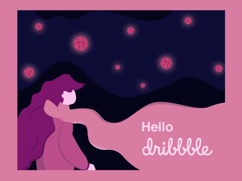 Hello dribbble design graphic design hello dribbble