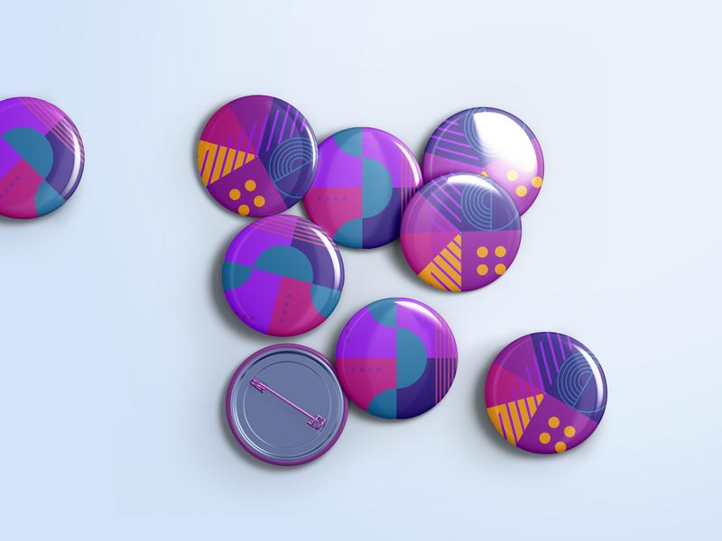 Badge for Facebook Campaign geometric geometric design design branding graphic design