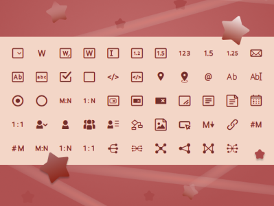 Icon Tabbli Font