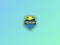 Paradise badge style logo
