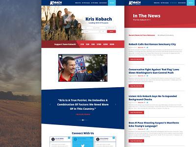 Kobach for Senate design politics ux ui website web design