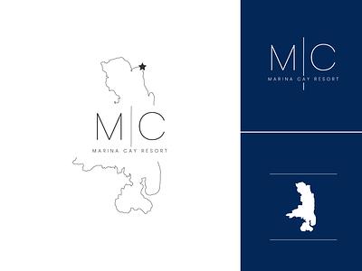 Marina Cay Resort resort logo resort lake montana flathead lake branding logo