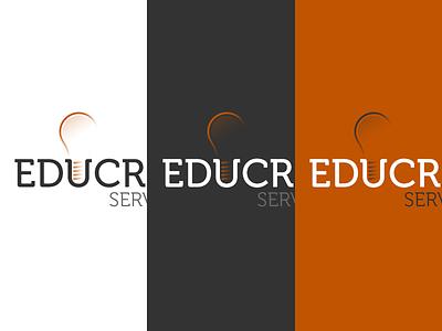 Light Bulb Branding light bulb orange education inverted logo branding identity school learn teach
