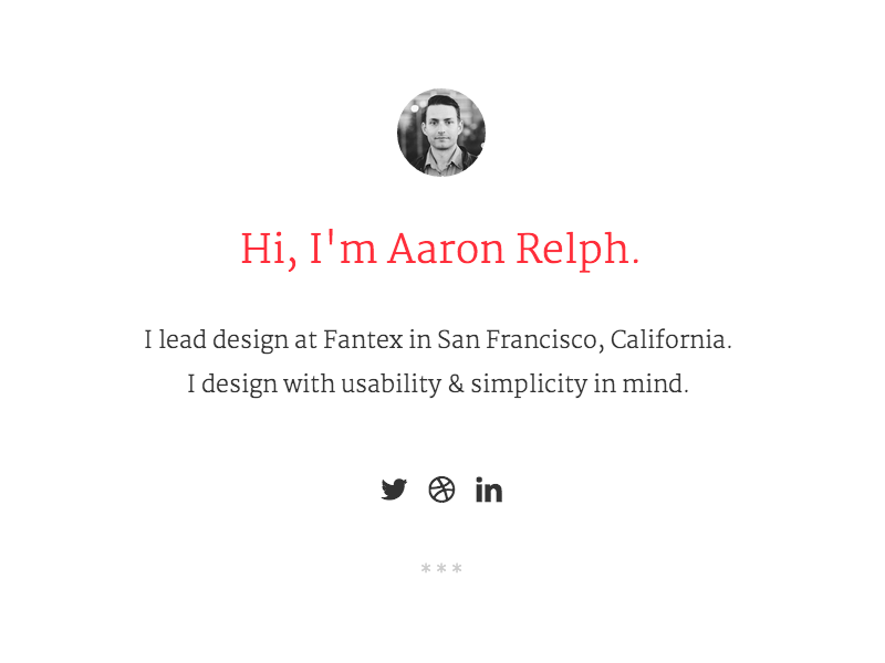 Personal Site typography ui layout portfolio personal site refresh