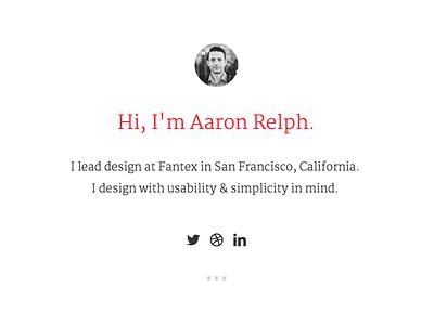 Personal Site typography ui layout portfolio personal site refresh