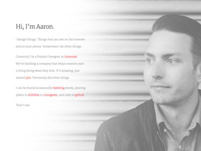 Personal site grayscale design site personal