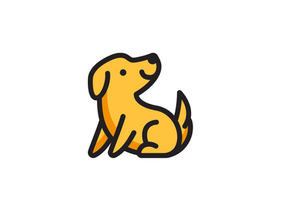 Hall Monitor brand animal illustration dog logo icon brandmark brand