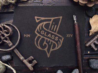 """78 glass"" logotype"
