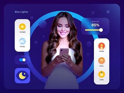 Blue Lighter woman girl phone blue icon logo ui app mobile light blue lighter