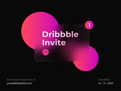 1 Dribbble Invite Giveaway illustration 1 invite product typography print branding icon logo web mobile app ui send email invitation dribbble invite invite