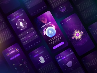 Horoscrop Master biological clock love compatibility numberology lucky number philosophy life weekly daily palmistry astrology product deisgn master horoscrop ui app mobile