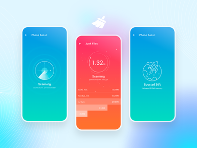 Deep Cleaner smart phone boost boost super cleaner cleaning design icon ui app mobile