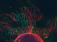 The End Title ominous color vibrant abstract graphic design title lockup