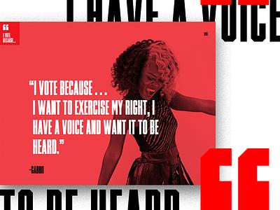 I Vote Because ... Quote election campaign civic vote profile quote