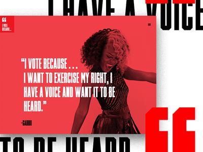 I Vote Because ... Quote