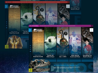 DMNS - Concept 1 pharaoh dinosaur column denver museum website