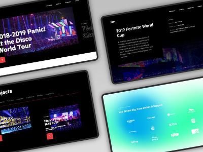 FUSE Website Redesign from @Metajive/ visual audio lighting equipment light typography design event project ux ui website