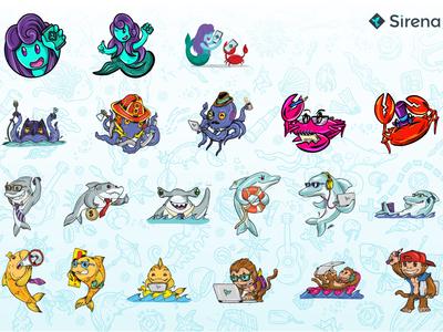 Sirena team characters