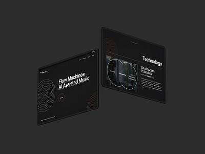 Flow Machines v2.0 web design
