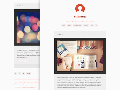 Silkyflat Tumblr theme web design tumblr tumblr theme theme clean pop responsive