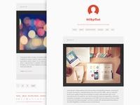 Silkyflat Tumblr theme