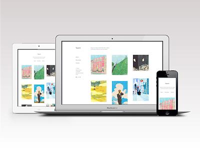 Square Tumblr theme web design tumblr tumblr theme theme clean minimal responsive portfolio