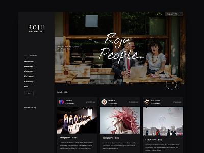 Roju People WIP ui web design