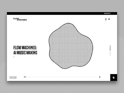 Flow Machines Website web design