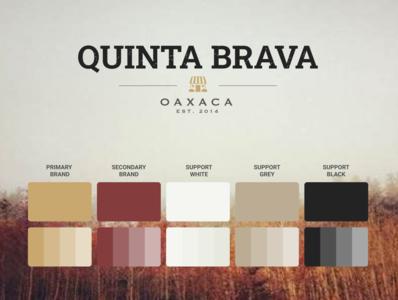 Brand creation - Quinta Brava color ui rancho wholesome organic colorscheme authentic color palette colorpalette logo quinta brava