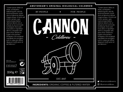 Cannon Coldbrew Bottle Label