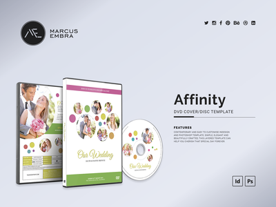Affinity DVD Cover and Disc Template