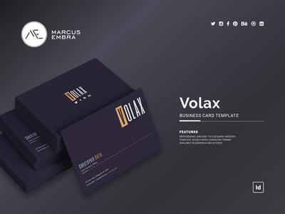 Volax Business Card Template