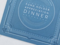 Fund Holder Appreciation Dinner Invite