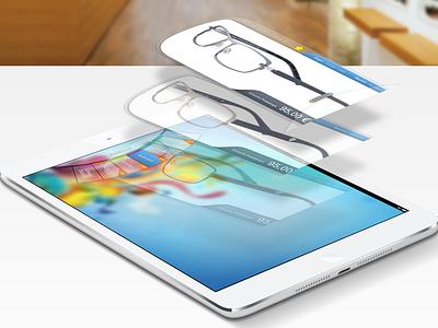 Glasses Catalog ipad app user experience visual design user interface flip ios apple cocoa design interface ui design