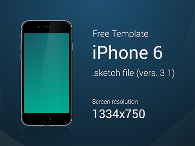 iPhone 6 - Free Template iphone6 template sketch vector free apple ios8