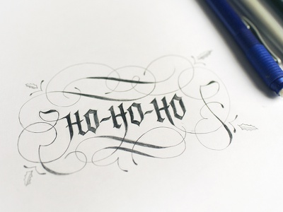 Santa's coming to town letters flourish santa calligraphy typography hand lettered hand lettering sketch lettering christmas
