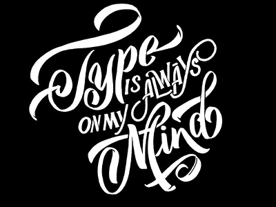 Type on mymind mobile typography logo handlettered hand lettering ipadpro procreate illustration brand calligraphy lettering