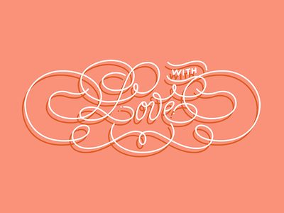 Whatever you do, do it with love! illustrator lettering monoline valentines valentines day vday love