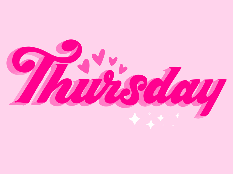 Thursday letters type typography logotype word mark editorial illustration lettering handlettering