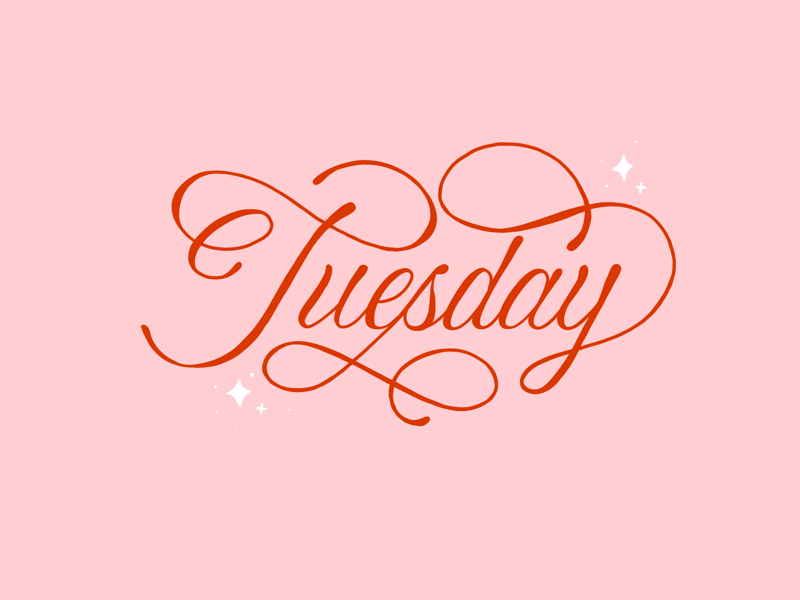 Tuesday Flourishes abstract illustration typography letters lettering handlettering