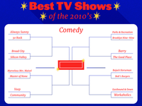 Best TV shows of the decade Bracket