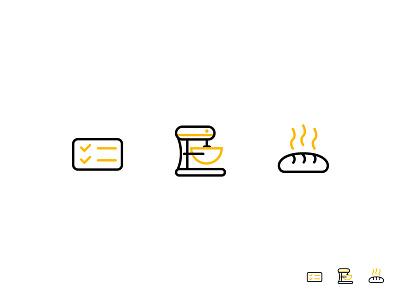 The Granary Icons granary branding vector iconography bakery icons baking
