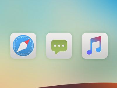 iOS Icons iconography jailbreak apple music messages sms safari icon ios