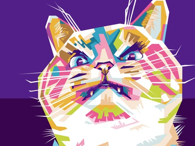 Angry Cat WPAP