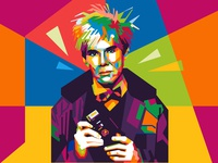 Andy Warhol in WPAP style