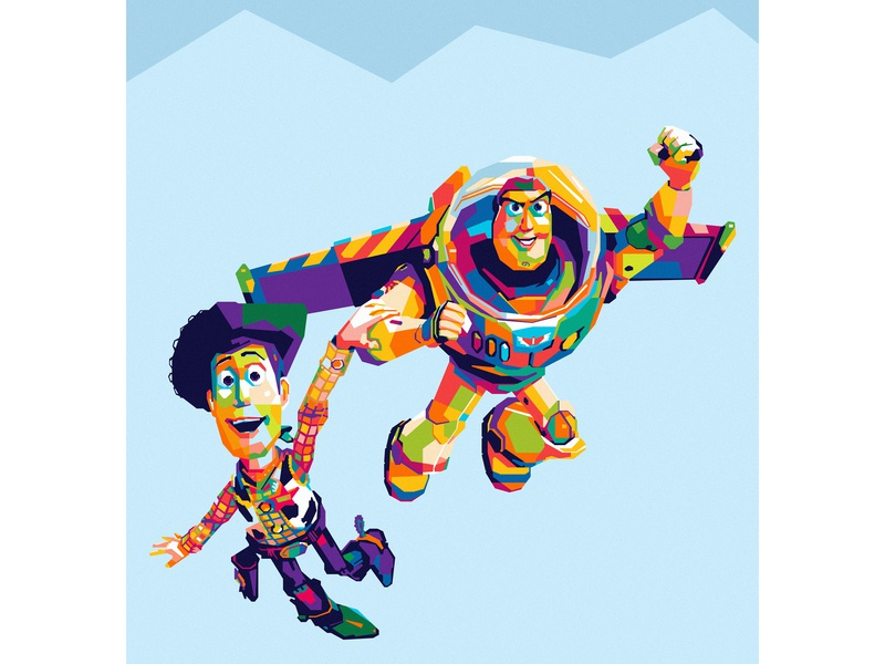 toy story colorful toy story design artwork art wpap popart illustration