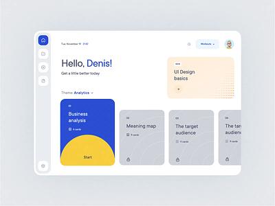 Dashboard UI app illustration animation ui minimal