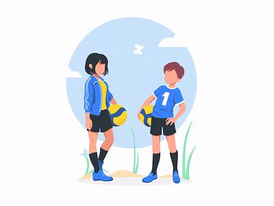 Illysrtation for project RusVolley branding vector illustration