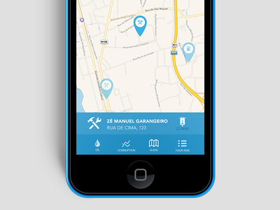 Detail of the prototype from GasOil app